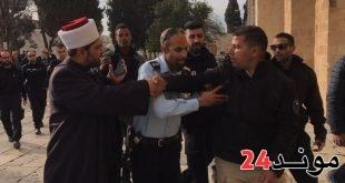 توتر بعد محاولة إسرائيليين سرقة أحجار أثرية من الأقصى