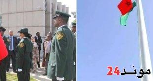 رفع العلم المغربي بشكل رسمي بمقر الإتحاد الإفريقي