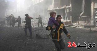 سوريا: مقتل 13 مدنيا في قصف صاروخي لقوات النظام السوري على الغوطة الشرقية