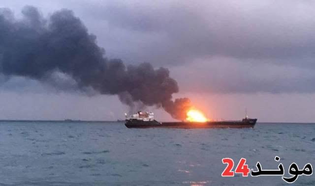 تسرب نفطي في البحر الأحمر نتيجة انفجار في ناقلة إيرانية