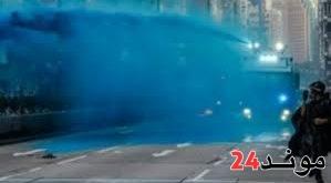 رئيسة هونغ كونغ تعتذر بعد رش الشرطة دهانا أزرق على مسجد