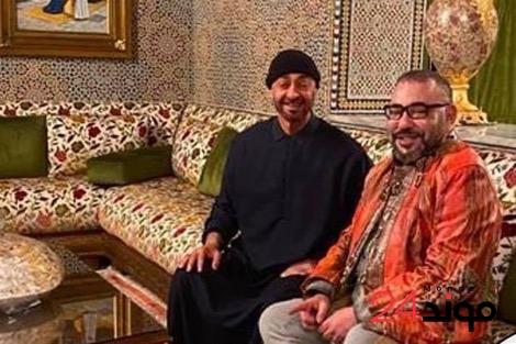 الملك محمد السادس يلاقي ولي عهد أبوظبي باقامته بالرباط