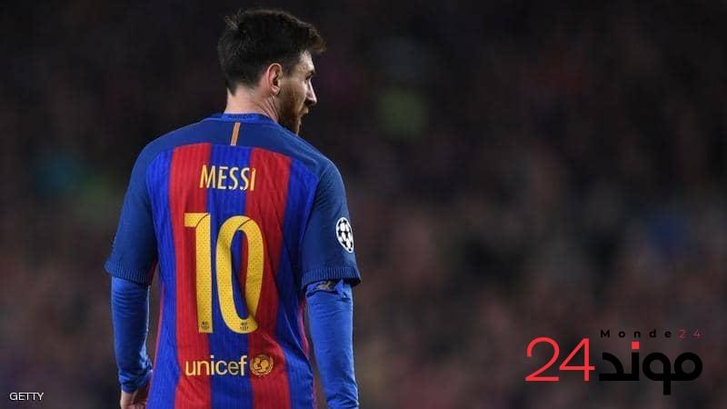 النجم الأرجنتيني ليونيل ميسي يقرر البقاء في نادي برشلونة