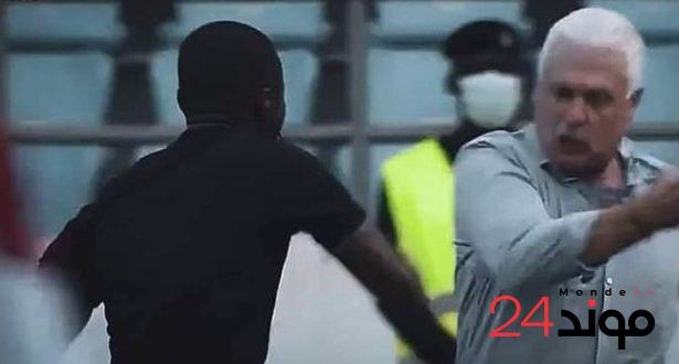"""بالفيديو: حكم مساعد يعتدي على مدرب السودان خلال لقاء غانا بتصفيات """"الكان"""""""
